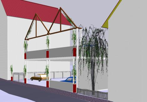 FWG legt Pläne vor für Parkpalette in der HolzhäuserStraße